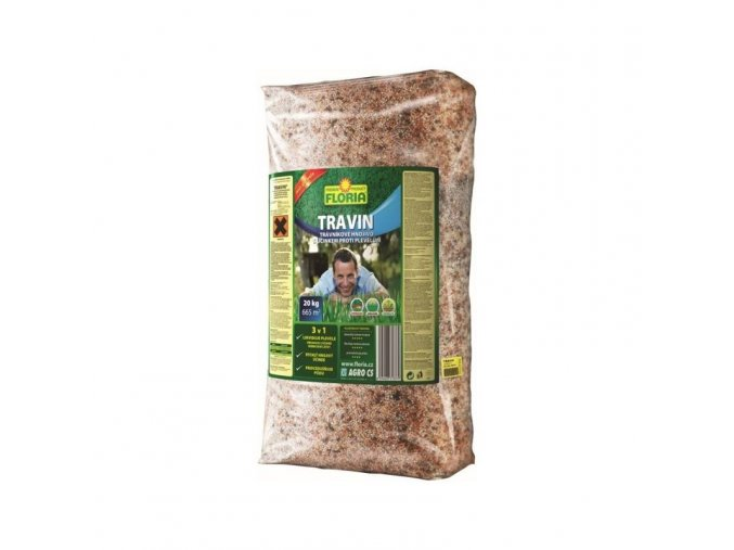 TRAVIN trávníkové hnojivo s herbicidem 20 kg