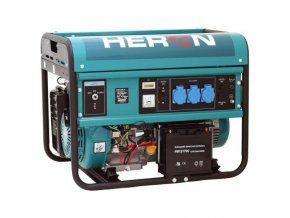 elektrocentrála benzínová 13HP, pro svařování, elektrický start, 5,5kW, HERON MB-8896115