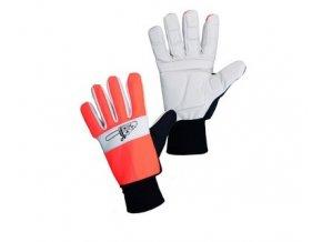 rukavice antivibrační   oranžové pila