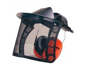 ochranný štít se sluchátky
