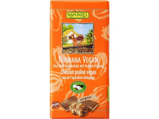 Bio NIRWANA VEGAN čokoláda s náplní RAPUNZEL 100 g