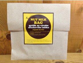 Pytlík na výrobu ořechového mléka - organic bavlna