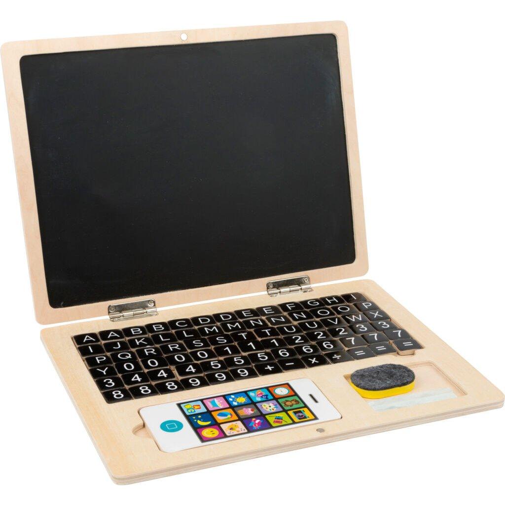LE 11193 Drevený notebook magnetický obsah balenia