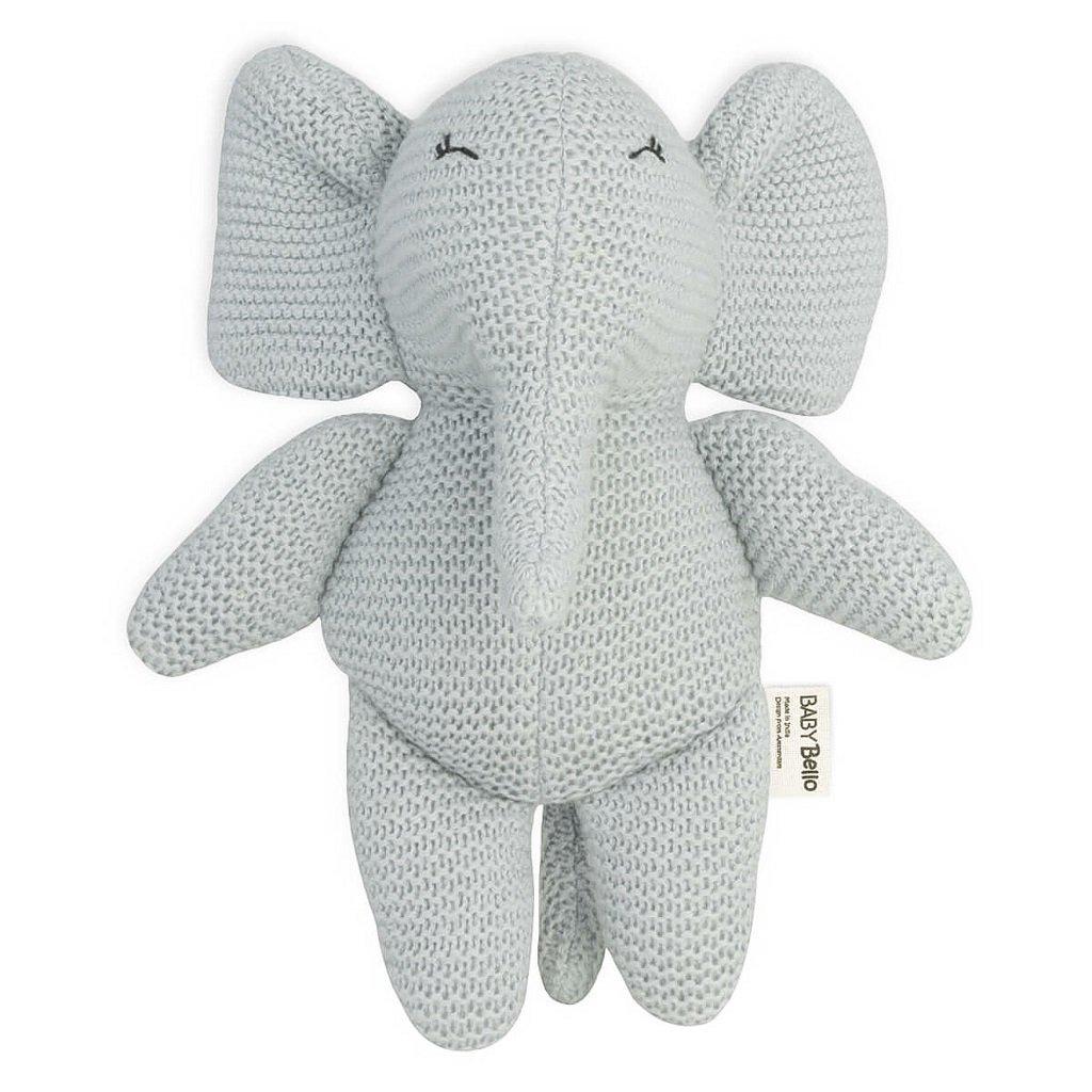 BB001 Textilná hračka s hrkálkou Sloník elfík