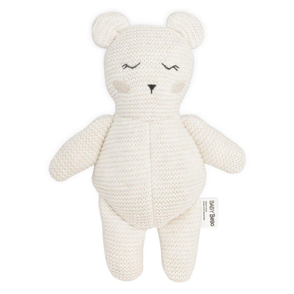 Baby Bello Textilná hračka s hrkálkou Ľadový medveď Bobby