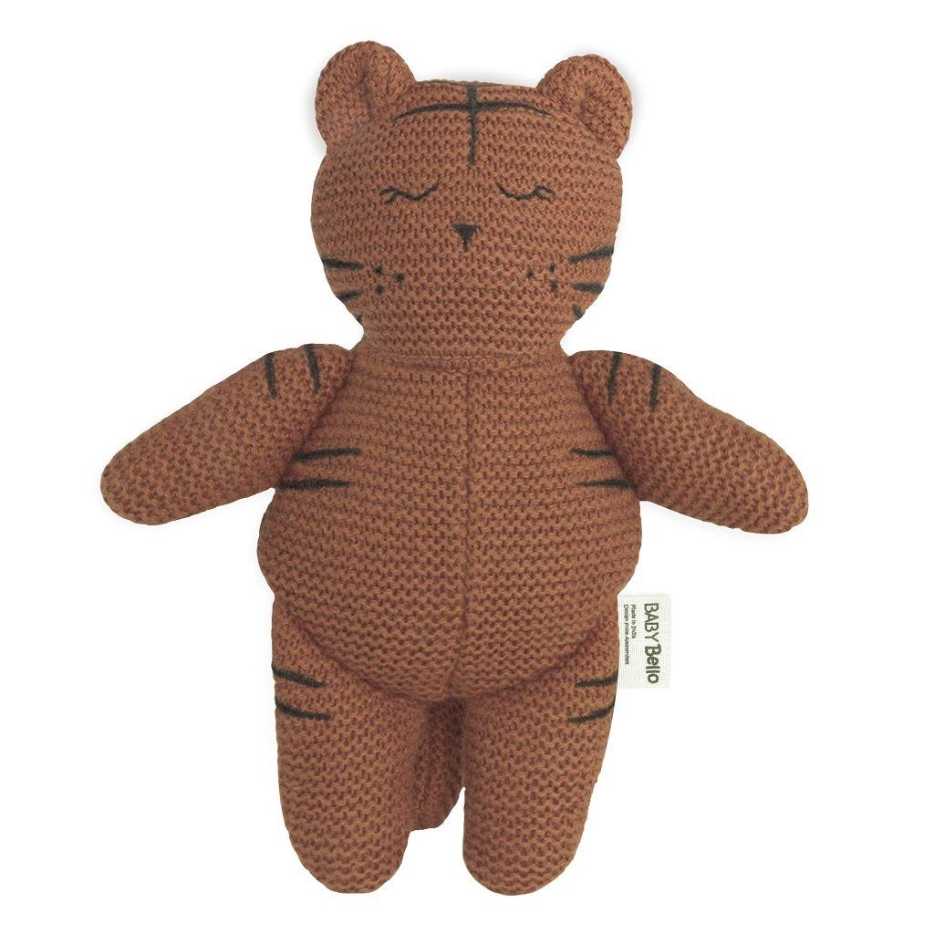 BB003 Textilná hračka s hrkálkou Tiger Toby