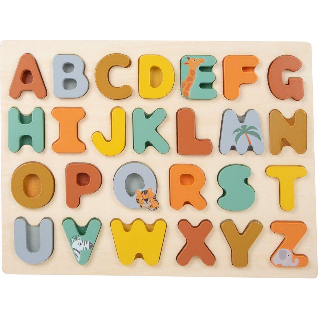 LE 11703 Small Foot Vkladacie puzzle Safari Abeceda