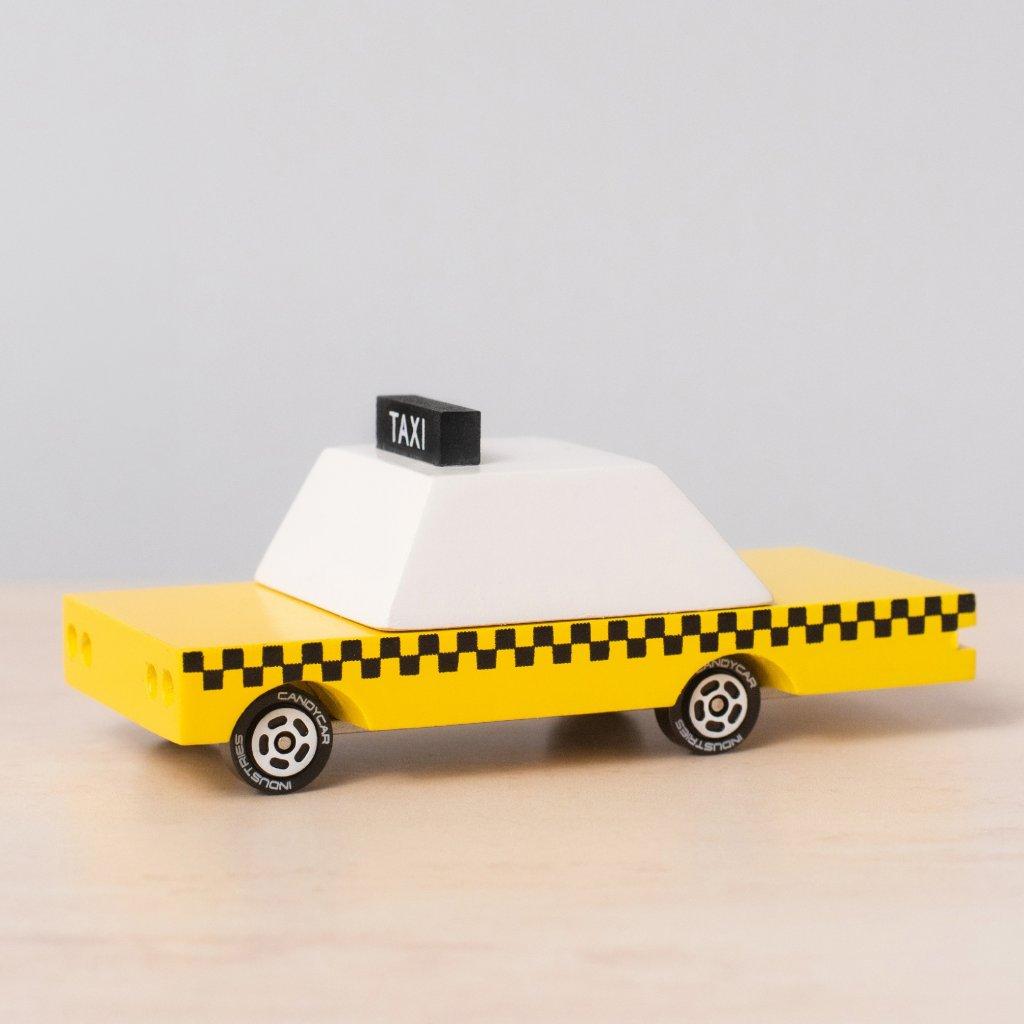 Drevene auticko candycar taxi