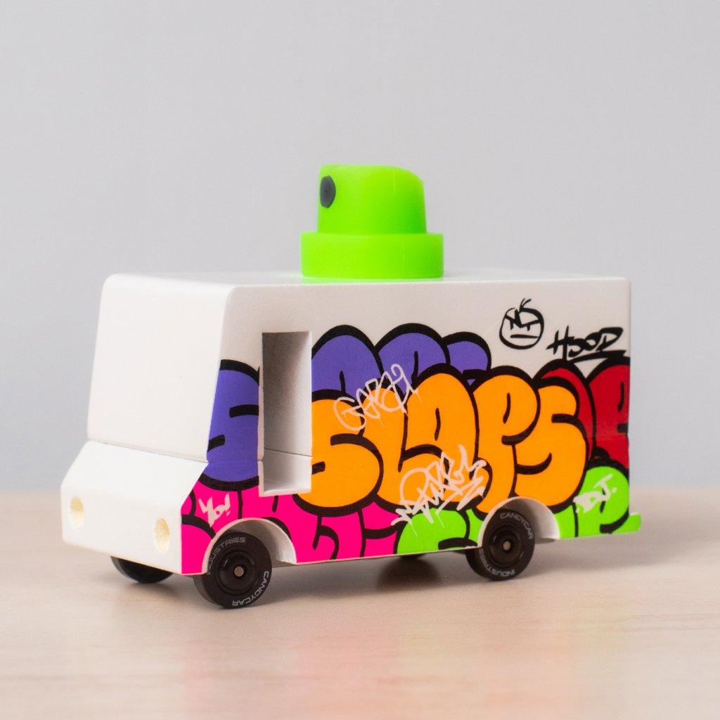 Drevene auticko candycar grafitty van