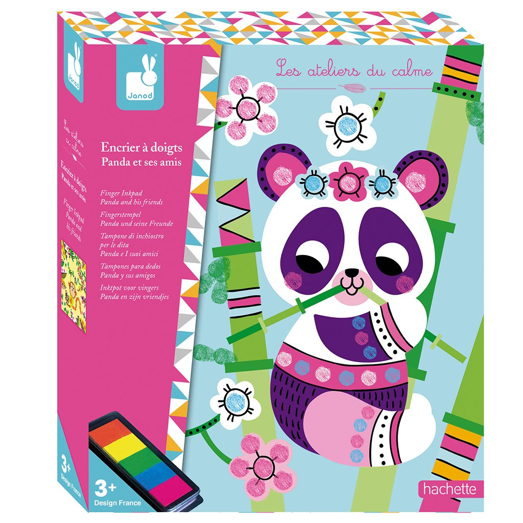 J07812 Janod Atelier Prstove farby Panda Maxi 01
