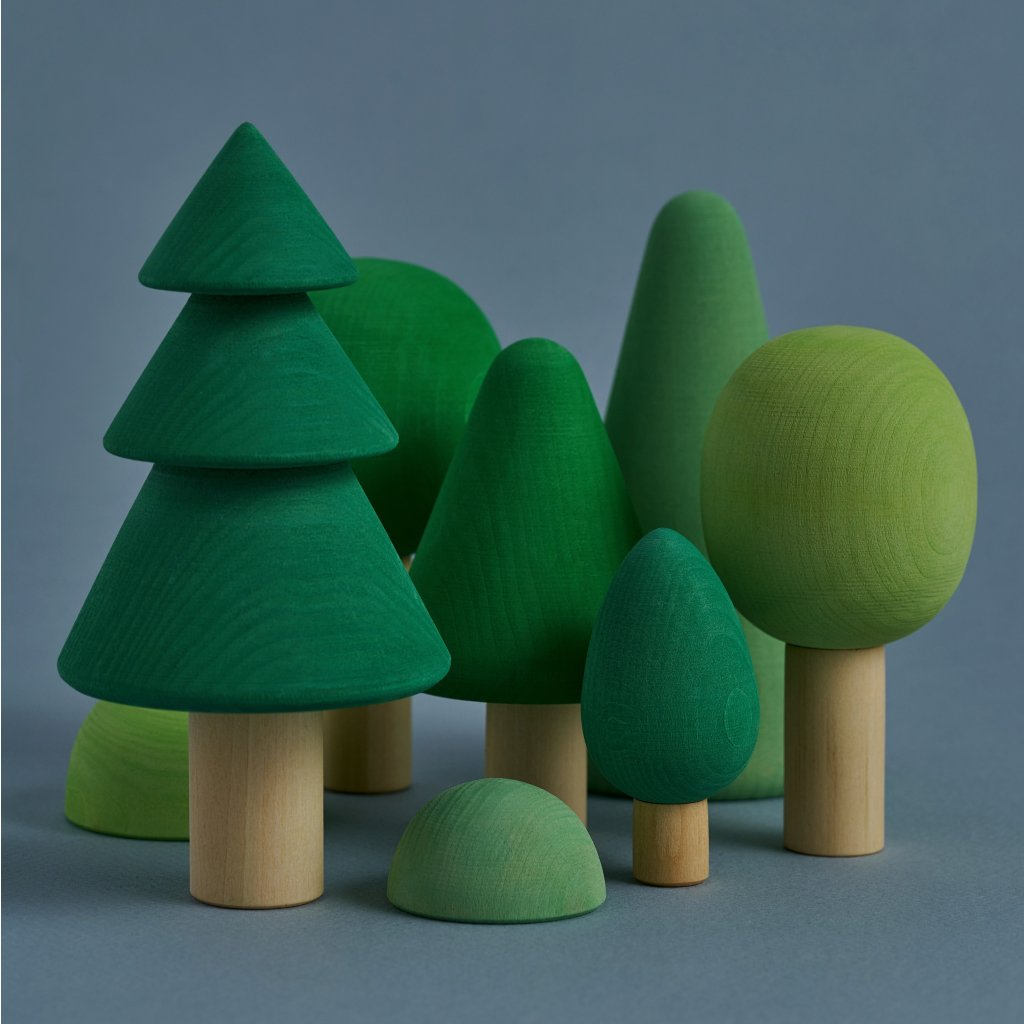 RG02001 Forest Drevene stromy Les zeleny 2