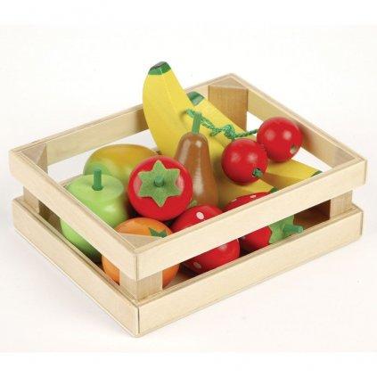 T0131 Tidlo Drevená bednička s ovocím ovocie v bedničke