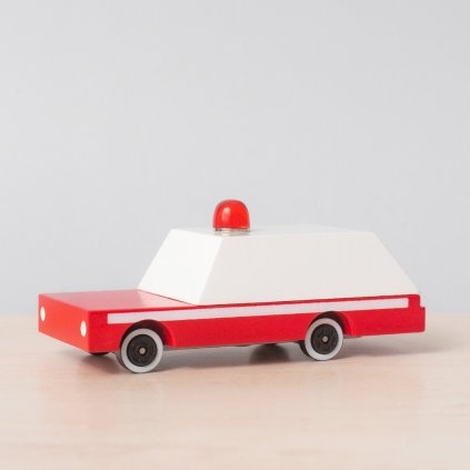Drevene auticko candycar sanitka ambulance