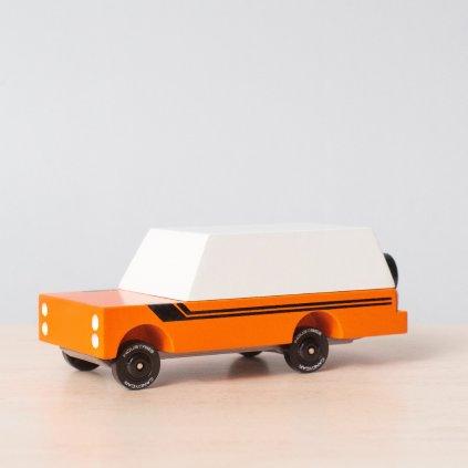 Drevene auticko candycar Orange mule