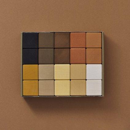 raduga grez drevene kocky skin tones cubes set 20 kociek