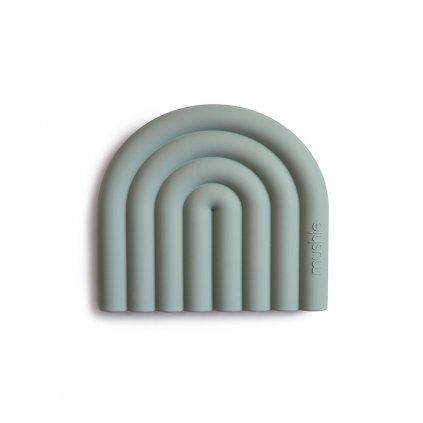 Mushie silikonove hryzatko RAINBOW CambridgeBlue