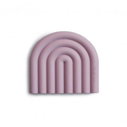 Mushie silikonove hryzatko RAINBOW Mauve