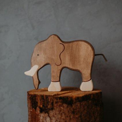 HOLZTIGER Drevené zvieratko Slon