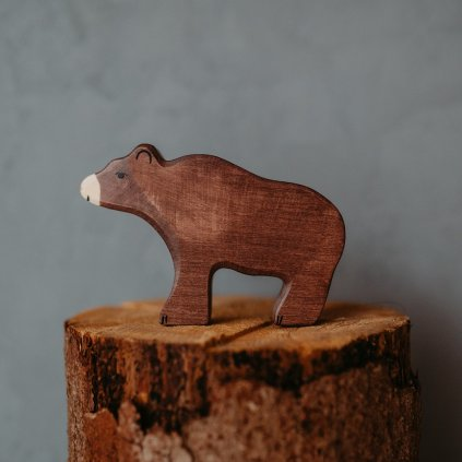 HOLZTIGER Drevené zvieratko Medveď hnedý