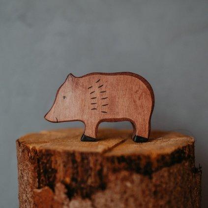 HOLZTIGER Drevené zvieratko Divá sviňa