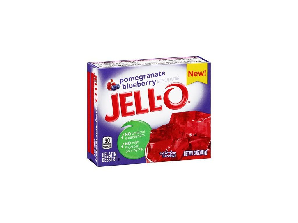 Jello Pomegranate Blueberry 85g