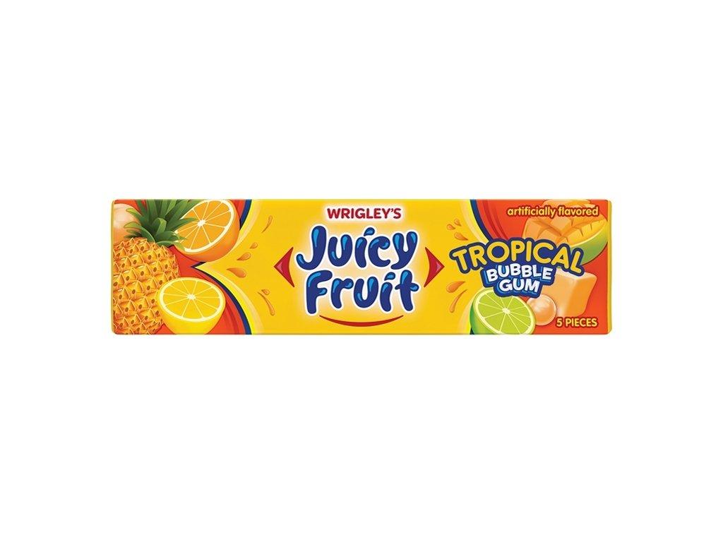 Wrigley's Juicy Fruit Tropical Bubblegum 33g