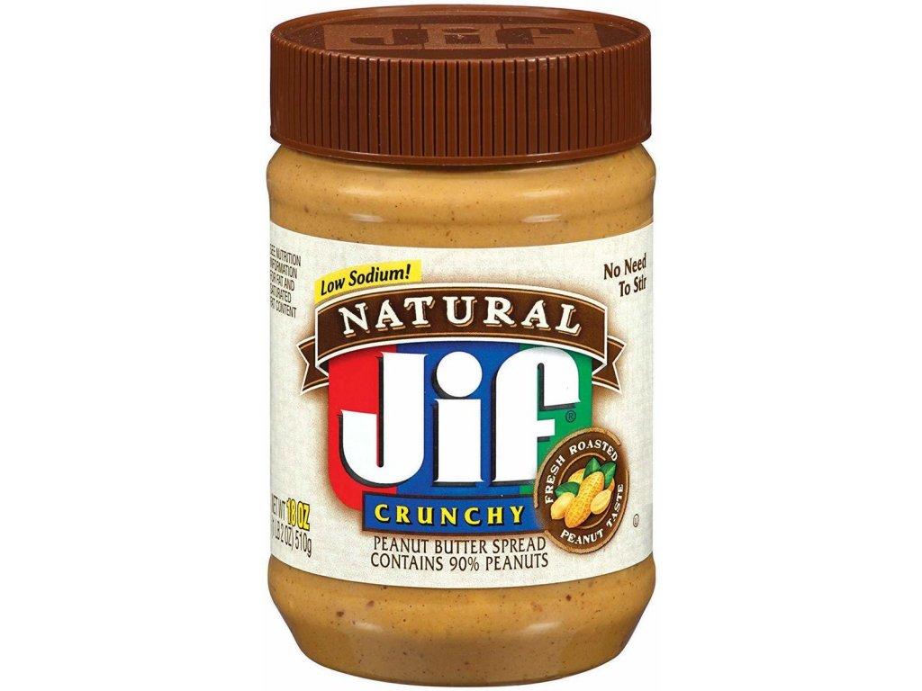 Jif Natural Crunchy Peanut Butter 454g