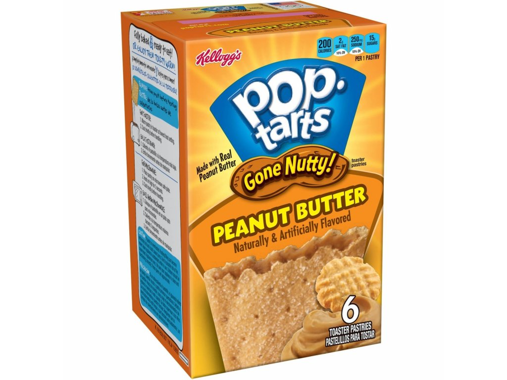 Pop Tarts Gone Nutty Peanut Butter 300g