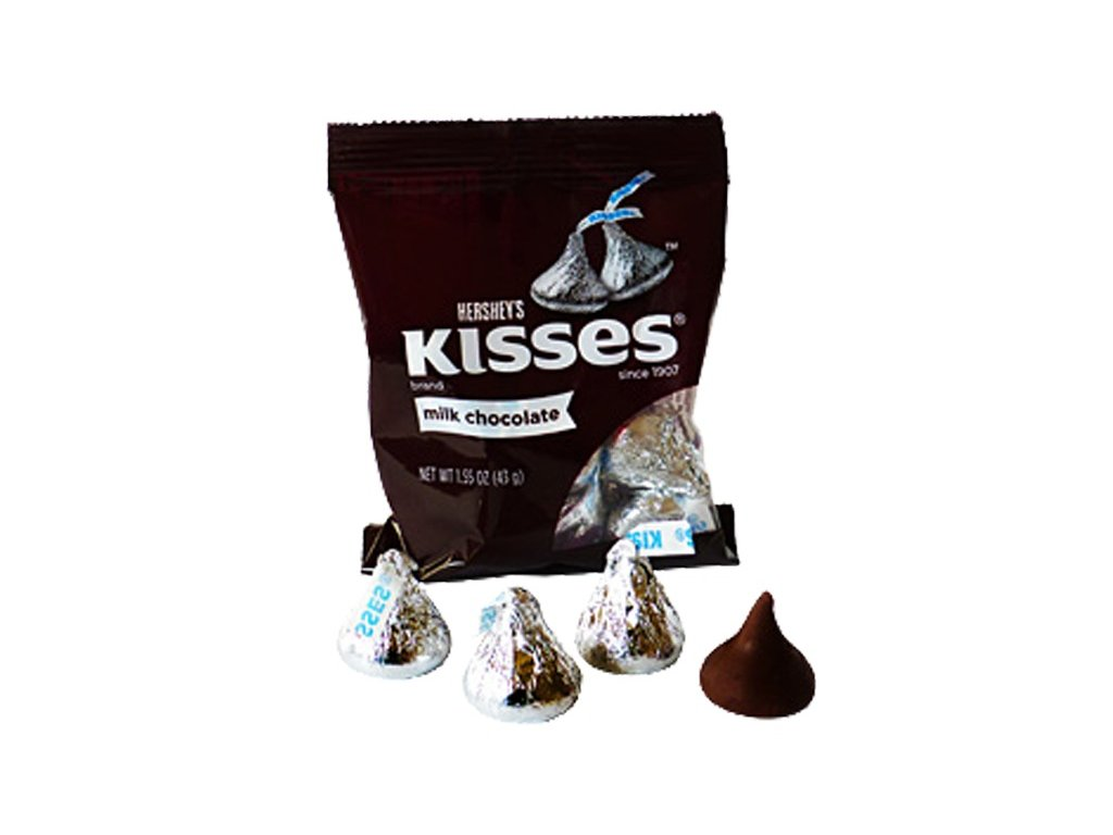 Hershey's Kisses Milk Chocolate Bag 43g