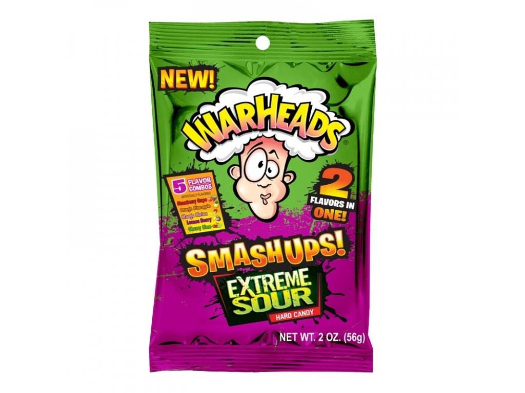 Warheads Extreme SmashUps Hard Candy 56g