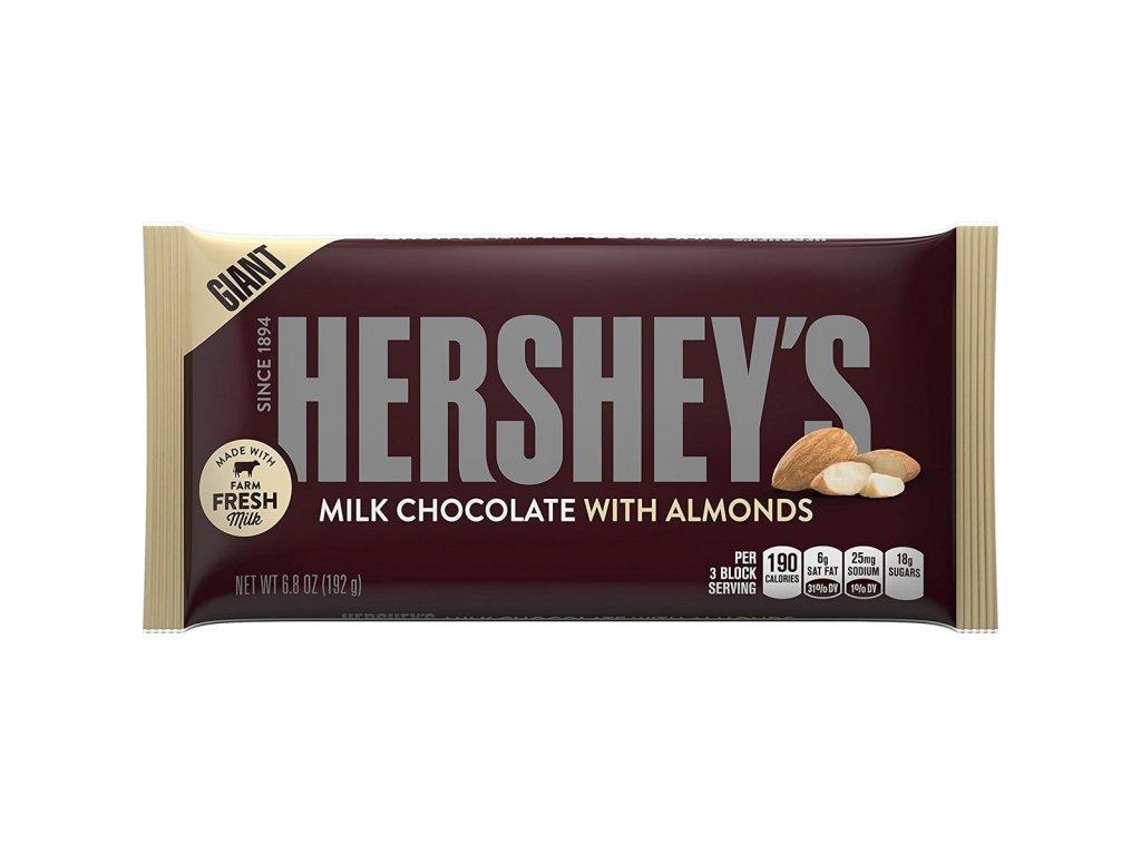 Hershey's Milk Chocolate with Almonds Giant Bar 192g