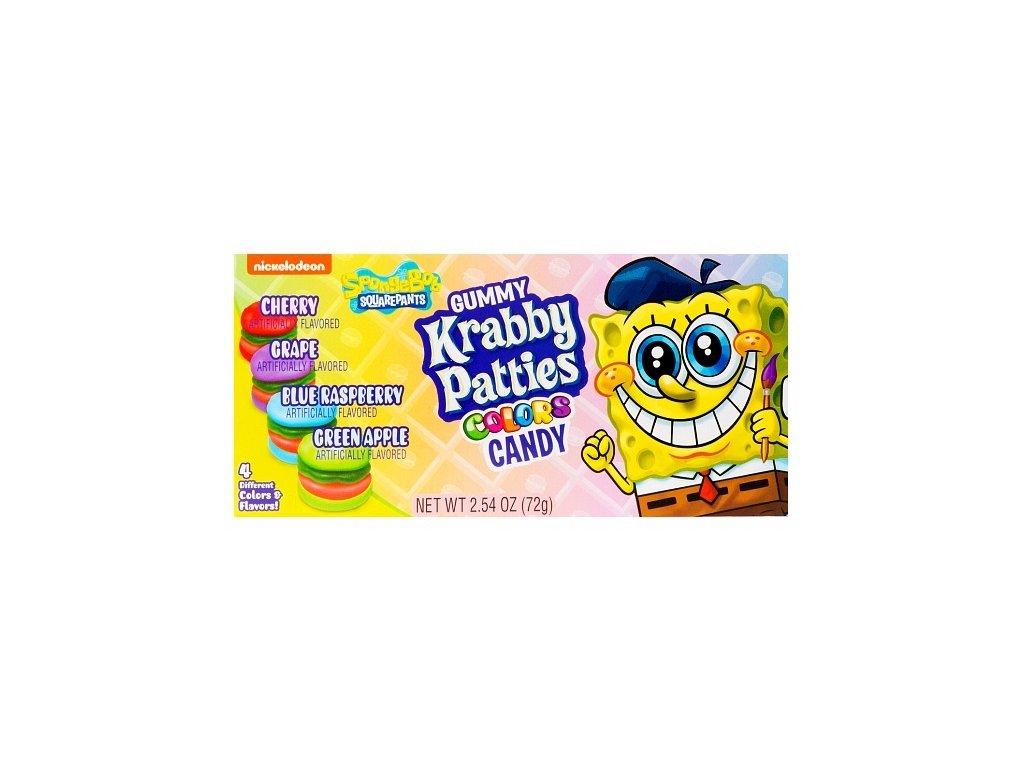 Spongebob Squarepants Gummy Krabby Patties Colors 72g