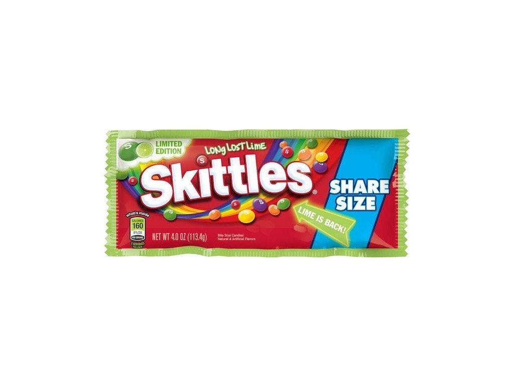 Skittles Long Lost Lime Share Size 113.4g