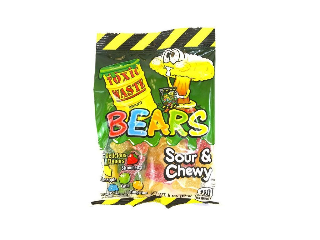 Toxic Waste Sour Gummy Bears 142g