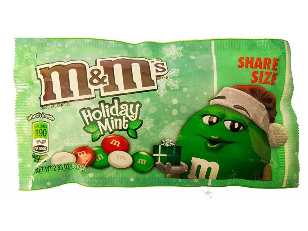 M&M's Holiday Mint Chocolate Share Size 80,2g