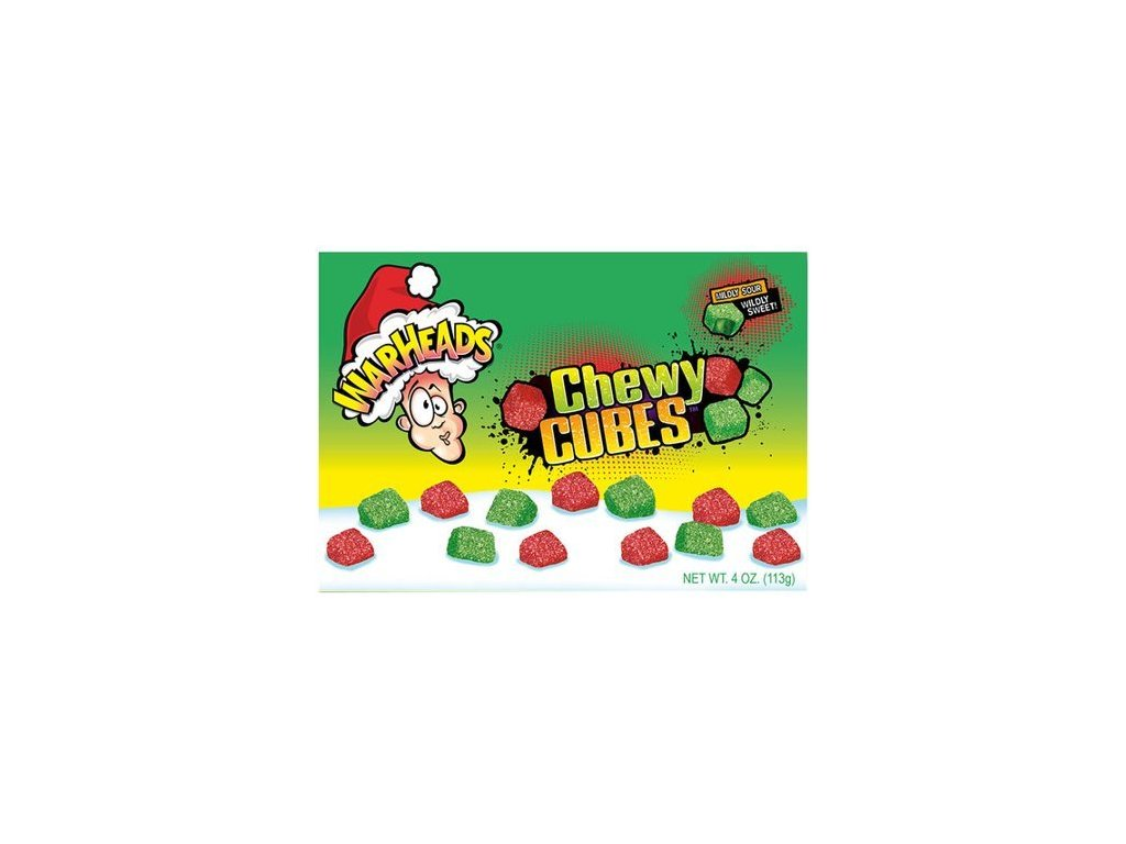 Warheads Holiday Chewy Cubes 113g