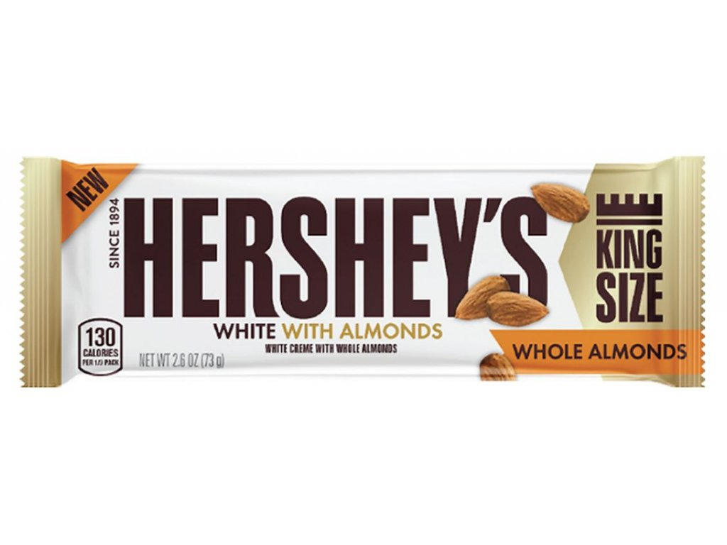 Hershey's White Crreme With Whole Almonds King Size 73g