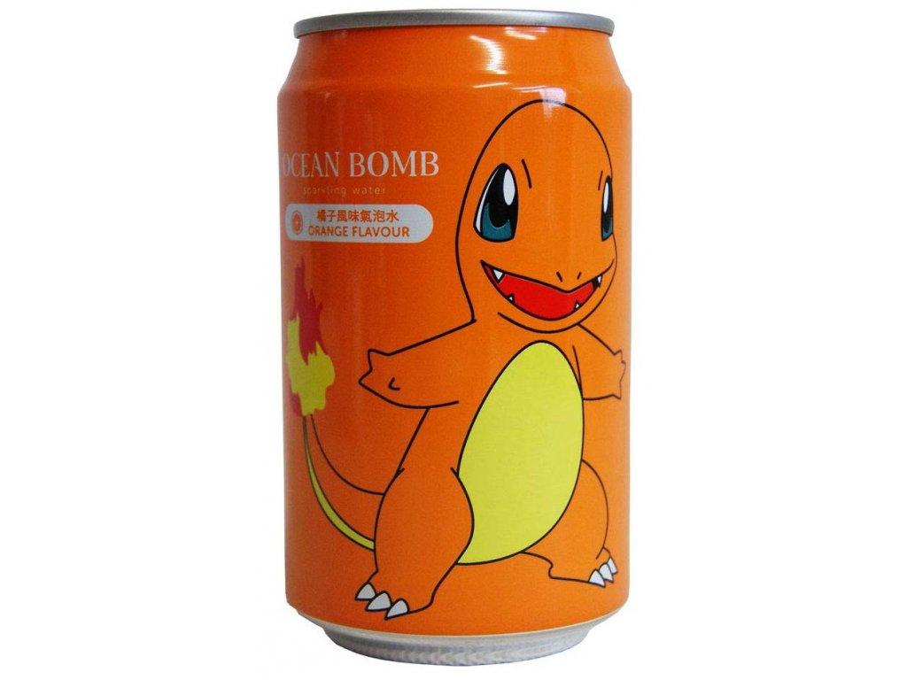 Pokemon Charmander Orange Sparkling Water 330ml