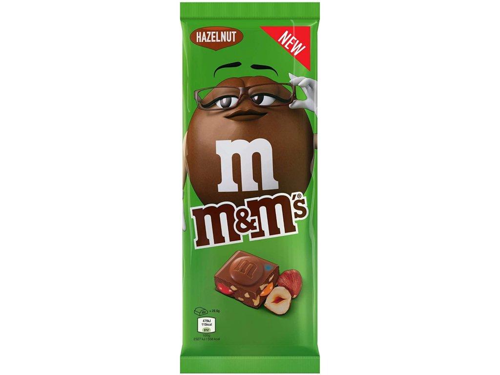 M&M's Hazelnut Milk Chocolate Bar With Minis 165g