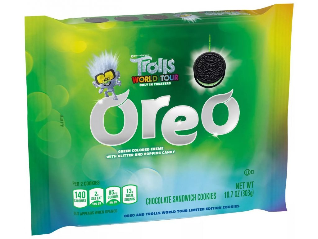 Oreo Trolls Green Glitter Creme 303g
