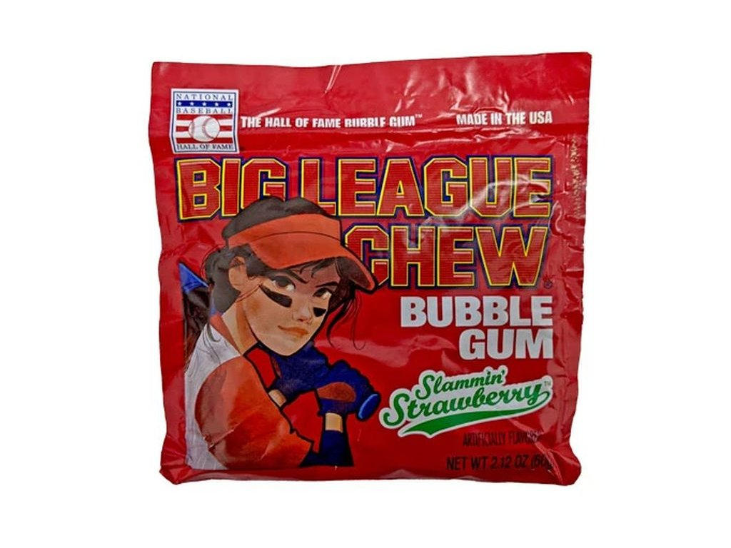 Big League Chew Bubble Gum Strawberry 60g
