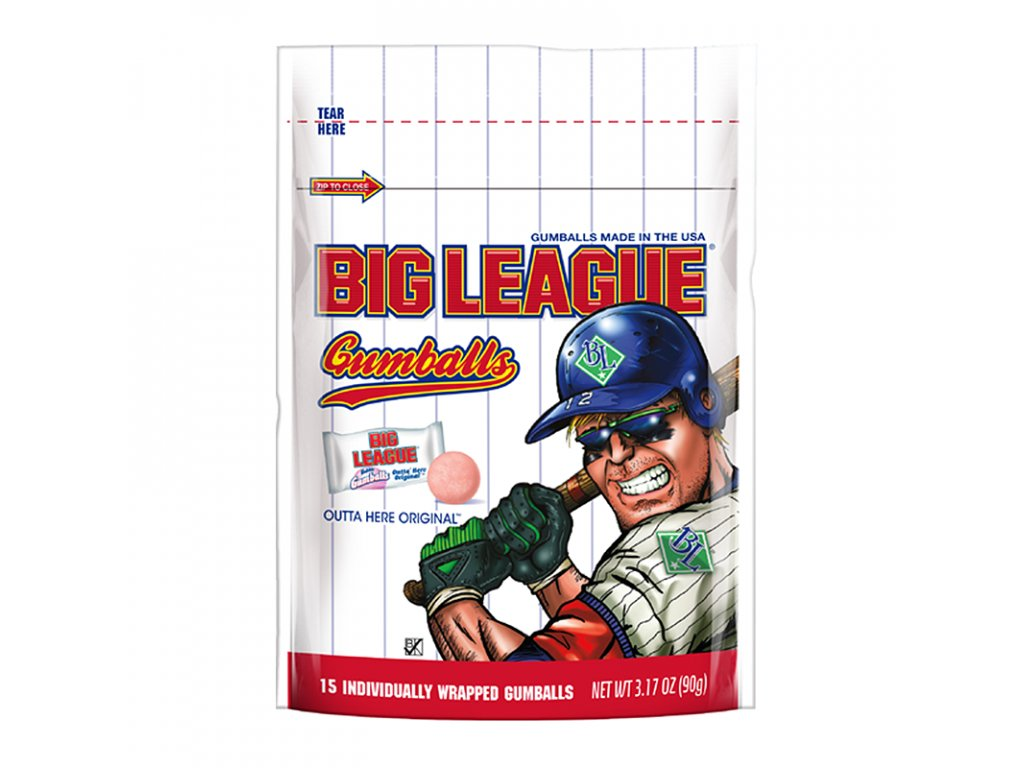 Big League Gum Gumballs 90g