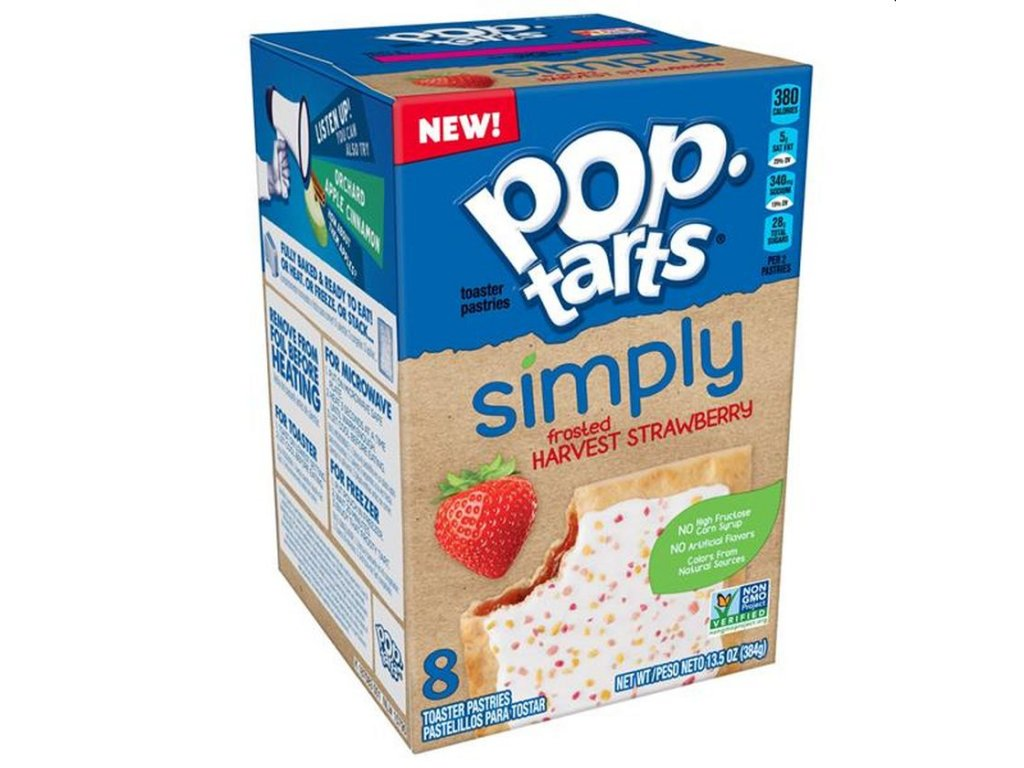 Pop Tarts Simply Frosted Harvest Strawberry 384g