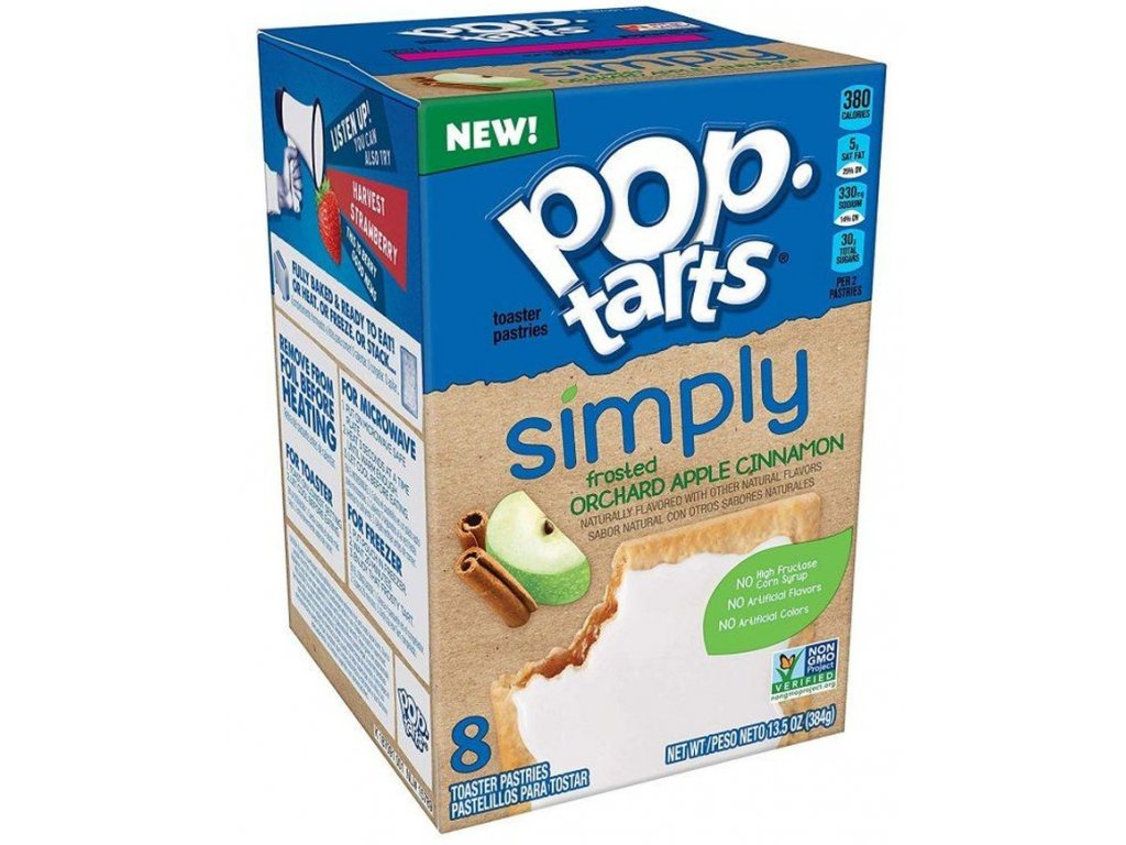 Pop Tarts Simply Frosted Orchard Apple Cinnamon 384g