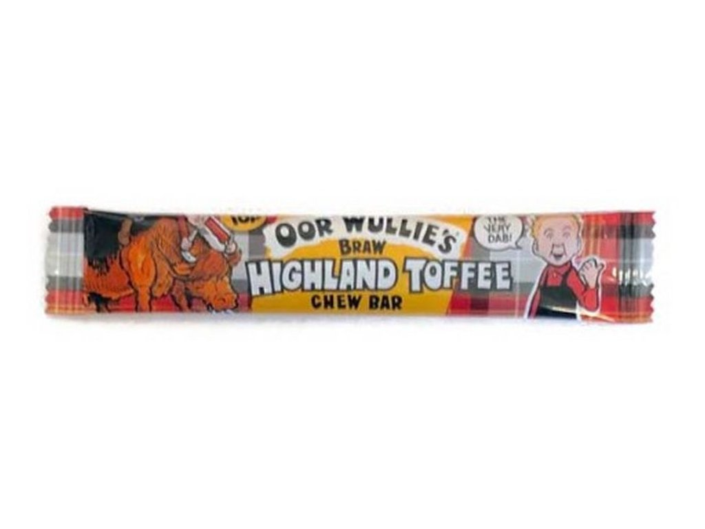 Oor Wullie's Braw HIGHLAND TOFFEE Chew Bar 11g