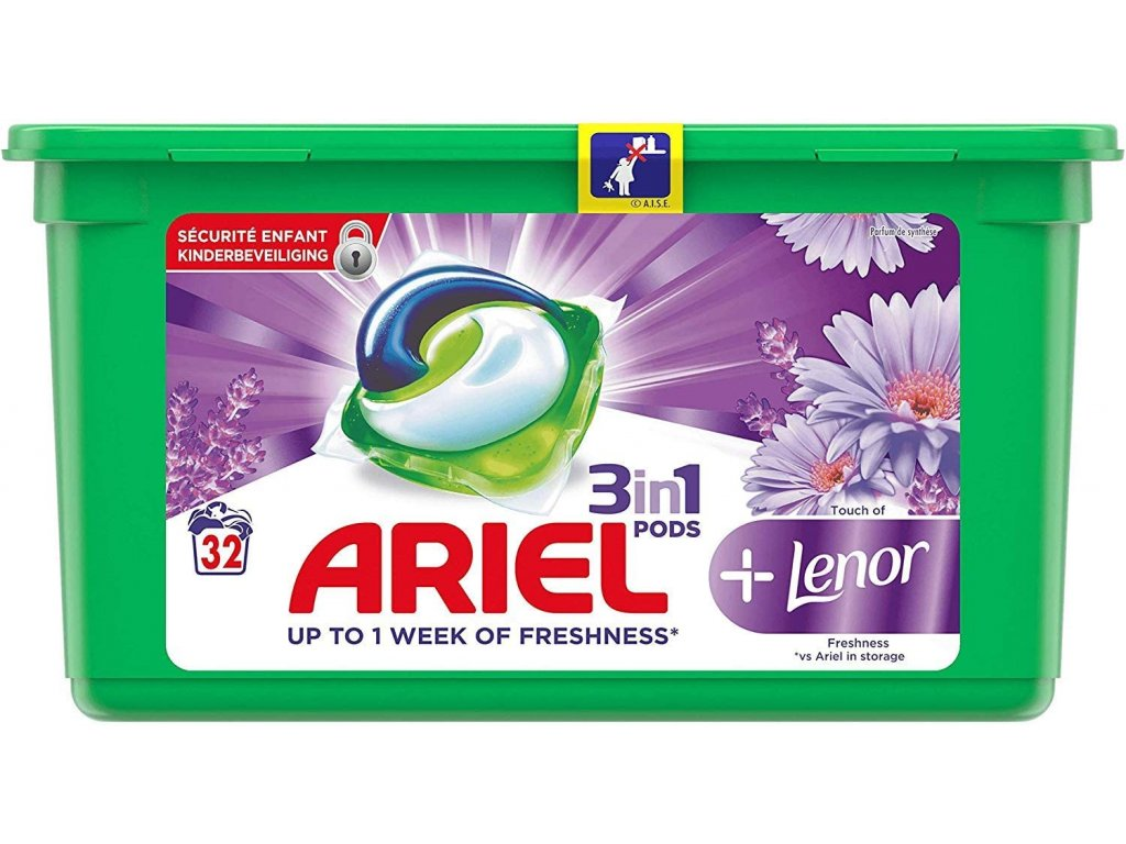 Ariel Pods 3in1 Lenor Freshness 32 dávek 867,2g