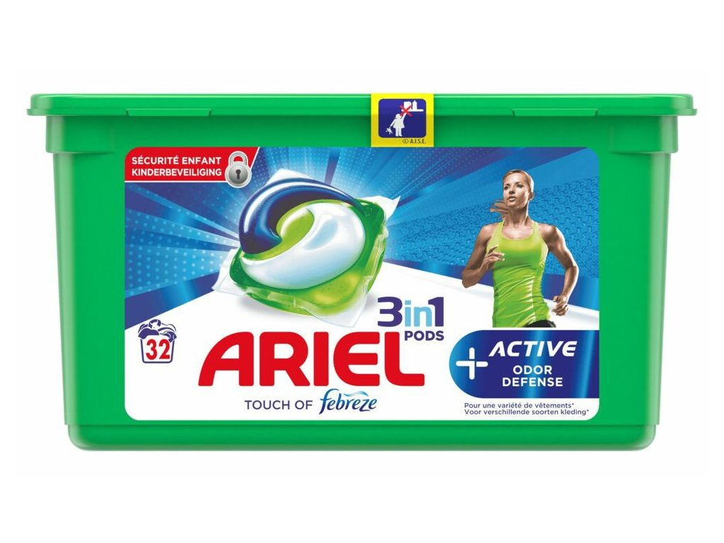 Ariel Pods 3in1 Odoe Defense 32 dávek 867,2g