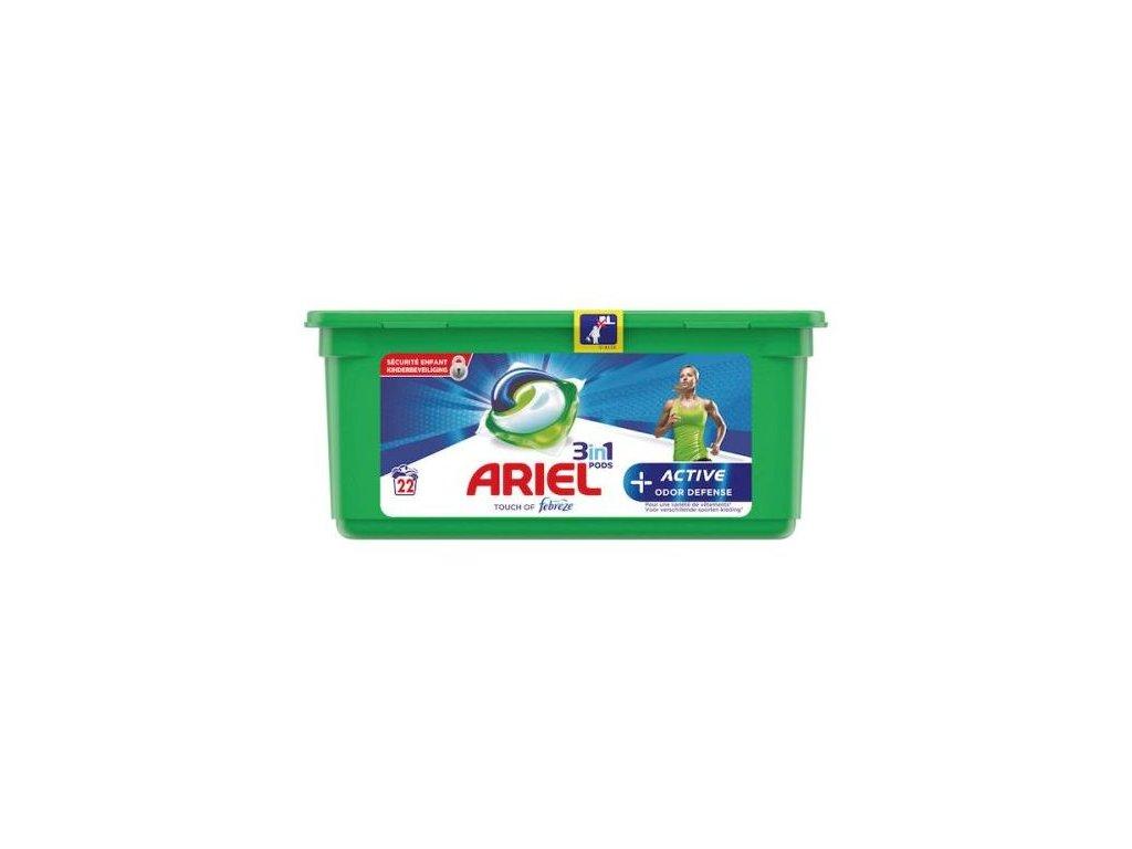 Ariel Pods 3in1 Odoe Defense 22 dávek 596,2g