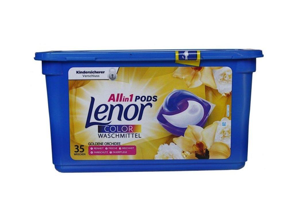 Lenor Pods Color Goldene Orchidee na barevné prádlo 35 dávek 924g