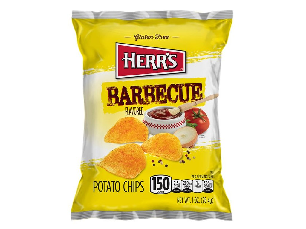 Herr's BBQ Potato Chips 28g